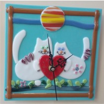 """часовник""""Влюбени котки"""""""
