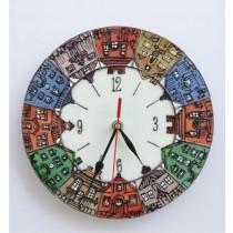 """часовник""""Витражни къщички"""""""